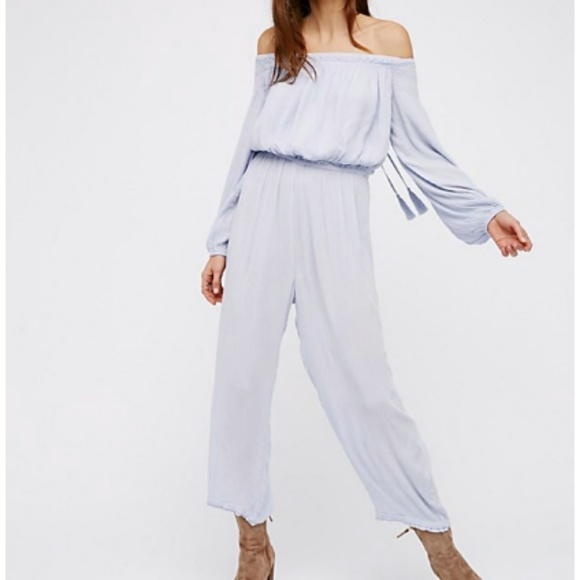24333ba6d870 Free People Pants - Free People -- Long Sleeve off the shoulder Romper